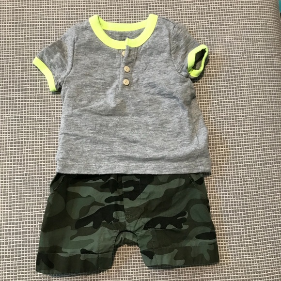 Latest Collection Of Baby Gap Boys 6-12 Months Gray Bear Camo Summer Shorts Romper Outfit One Piece Clothing, Shoes & Accessories